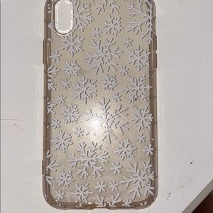 snowflake phone case for iphone xr ❄️